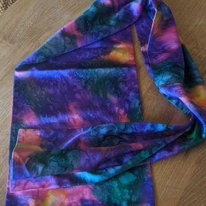 Marbled silk scarf
